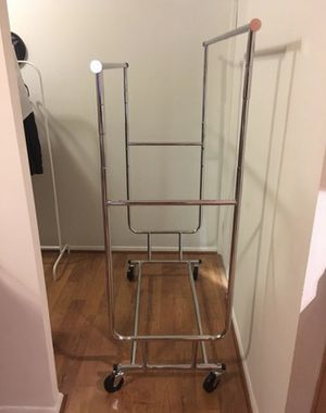 Double Rolling Clothing Rack