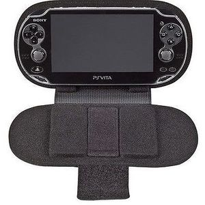 Black PSVITA leather case / Protective leather travel case with kick stand New 😁🎮