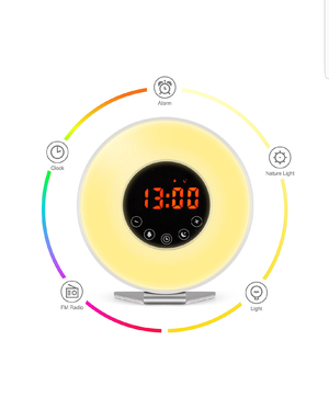 New! Wake Up Light Alarm Clock – 7 Color Light