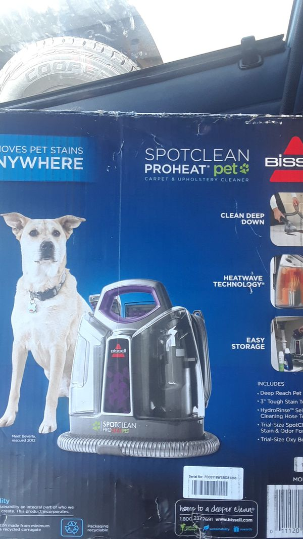 Bissell Spot Clean Pro Heat Pet Carpet Upholstery Cleaner