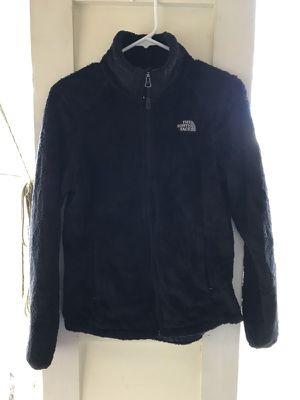 North Face Fuzzy Black Coat Size Small Women's