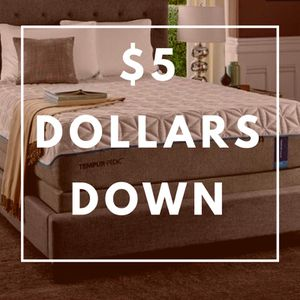 $5 dollars down no credit needed high quality brand new brand name mattresses
