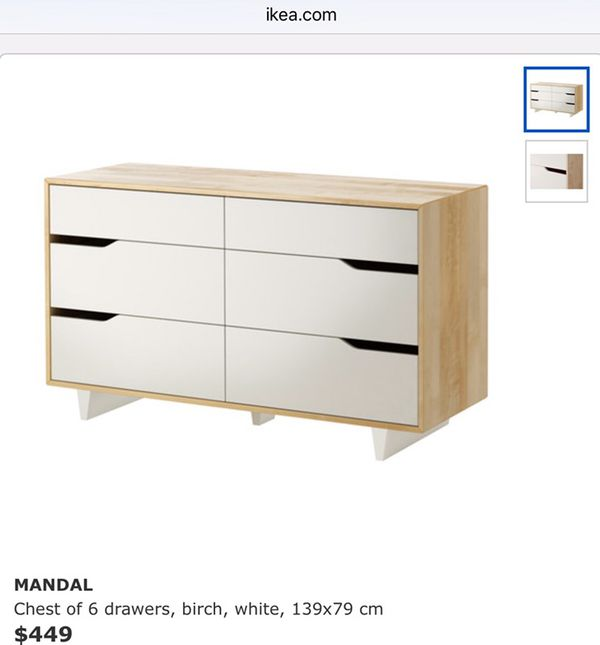 Good used IKEA Mandal 6 drawer solid wood dresser. Good used IKEA Mandal 6 drawer solid wood dresser  Home   Garden