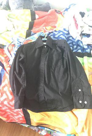 Kids black dress shirt