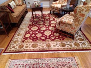 Chinese Silk & Wool 8'x10' Oriental Rug. Owned less than 5 years-practically brand new.