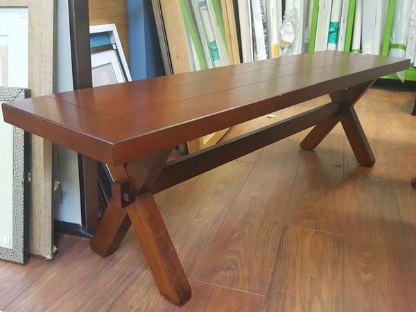 Pier 1 Imports Nolan Tuscan Brown Dining Table With Trestle Bench
