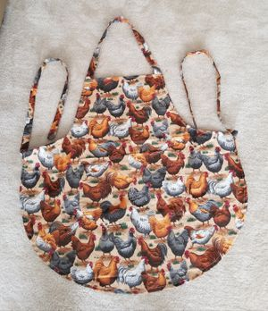 Rooster/Hen Cooking Apron/Handmade