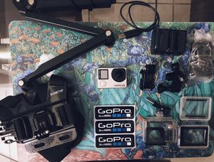 GoPro Hero4 Silver Edition with accessories