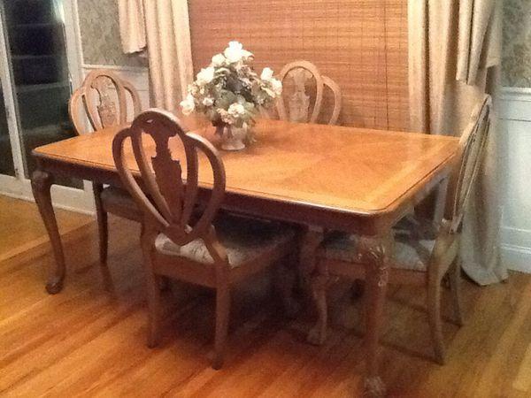 Pecan Wood Formal Dining Room Set