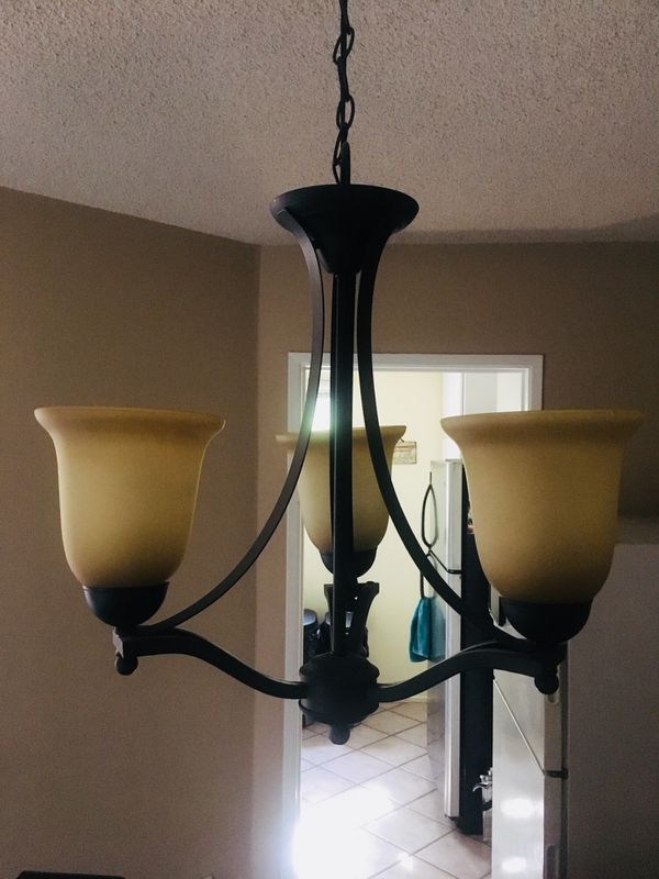 Beautiful Rustic Style Chandelier Like New From Home Depot