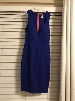 Blue bodycon dress. Size small