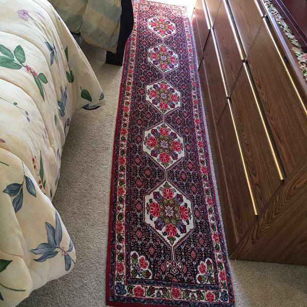 Persian wool hand woven runner rug 10x2