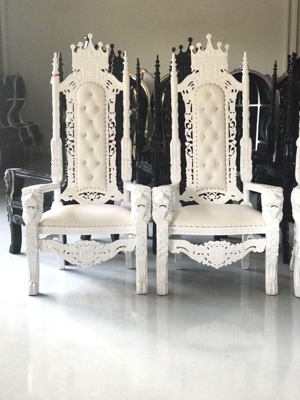 Dallas Design District Furniture $375 | dallas design district | king lion throne hand-carved