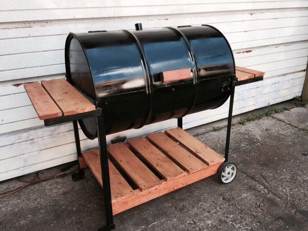 55 Gallon Barrel Bbq Grill Custom Made By Tytanic Grills