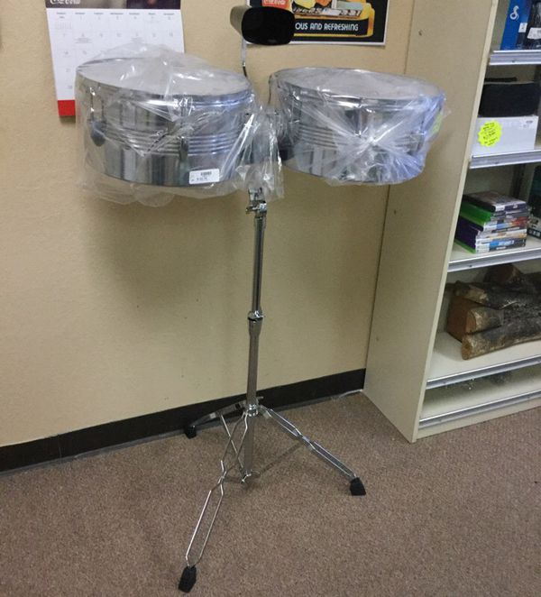 GP Timbales Brand New with Stand