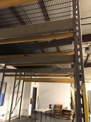 15'x12' mezzanine or pallet racks