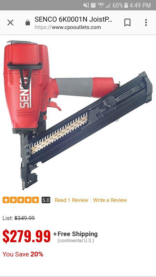 Senco framing nail gun with hose. (Tools & Machinery) in Greensboro, NC