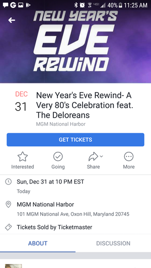 MGM GRAND new years eve party feat. Deloreans