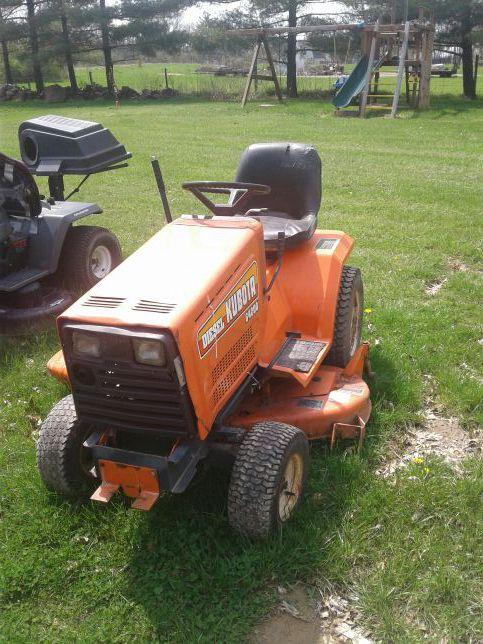diesel garden tractor. Kubota G4200 Diesel Garden Tractor Riding Mower With Plow Grader