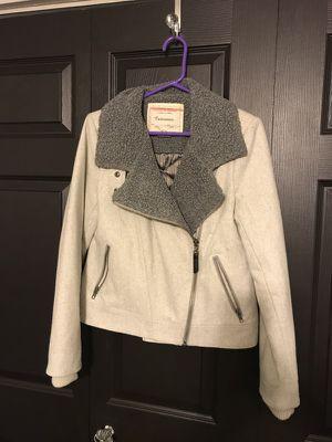Gray motorcycle style jacket