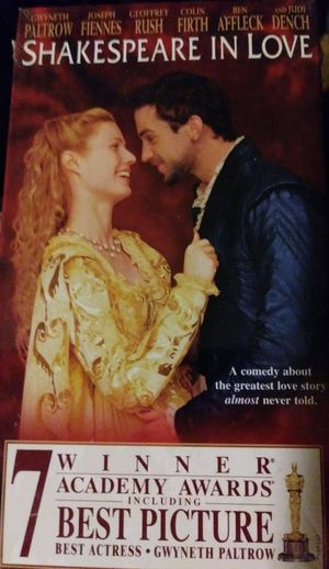 """Shakespeare in Love """"VCR/VHS Movie"""""""