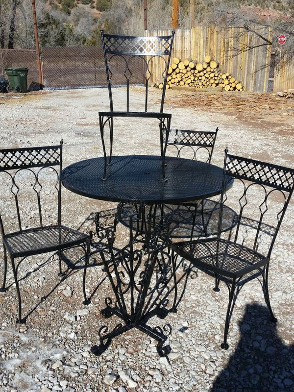Wrought Iron Patio Table And Chairs For Sale Cool Cast