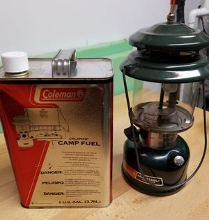 Coleman lantern and fuel