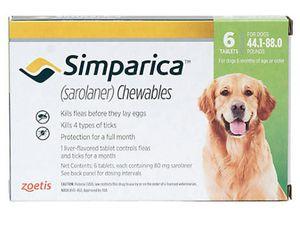 Simparica for dogs 44 - 88 lb 6pk
