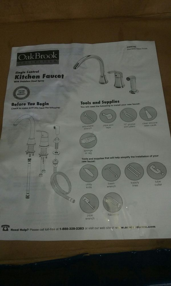 Oakbrook Collection Single Control Kitchen Faucet w/ Side Sprayer ...