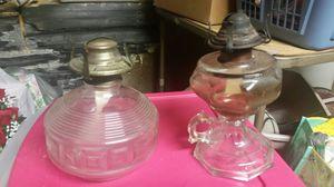 Vintage oil burning lamps