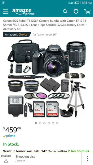 Brand new Canon Rebel T6 Bundle With Accessories.