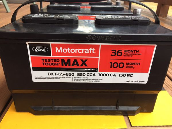 Brand New Ford Motorcraft 100 Month Battery Auto Parts In