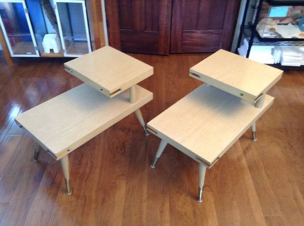 Pair vintage mid century mcm side end tables like new for Furniture bremerton