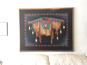 4' x 5' print on canvas - Native American warrior shirt