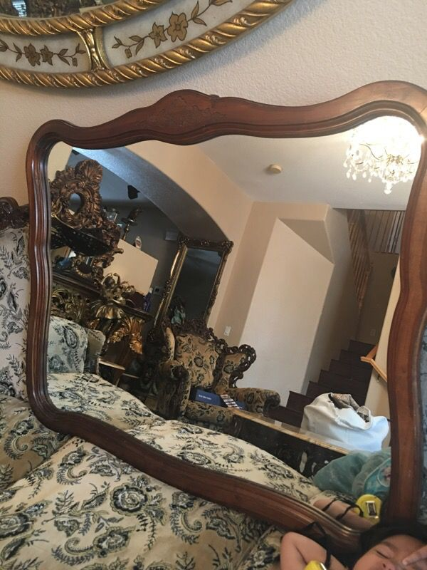 45x37 Wooden French Mirror Appliances In Las Vegas Nv