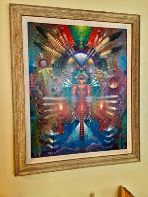 Unique Navajo Indian Painting (print)