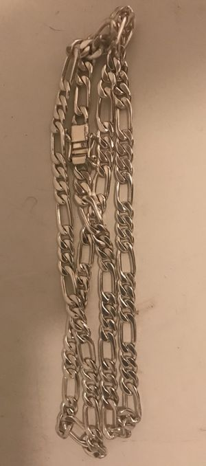 950 Sterling Silver Figaro Chain