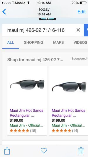 MAUI JIM SUNGLASSES 426-02 71/16-116 hot sands