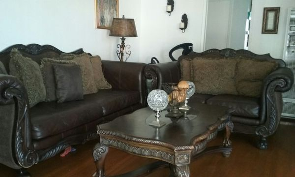 Highend ashley living room set with dining table (Furniture) in San ...