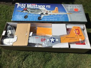P-51 remote control airplane. Still in box. Purchased for $399.