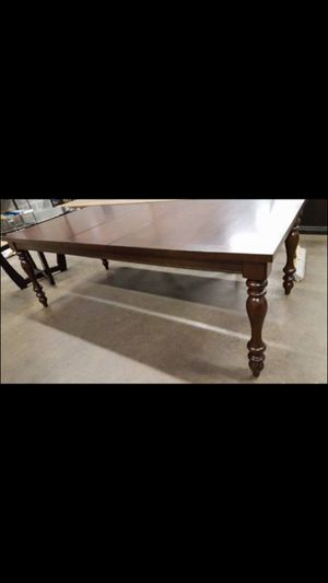 "72-92"" extendable solid wood dining table"