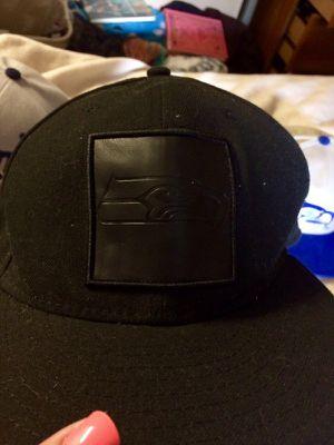 Black on Black Seahawks Hat