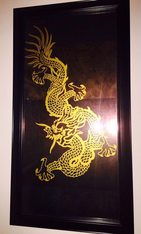 Asian Dragon Foil Art Wall Decor (Home & Garden) in Ossining, NY