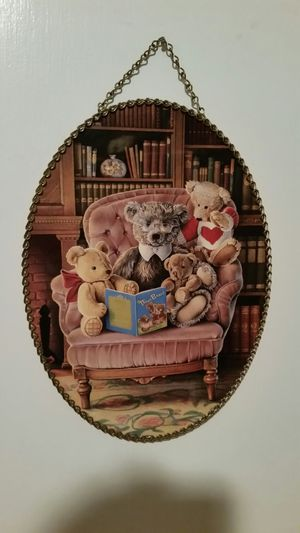 Teddy bear pic with chain frame