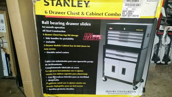 Stanley Professional Tool Chest Cabinet Combo, 6-Drawer (Tools ...