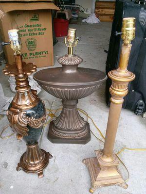 3 lamps...2 lamp shades