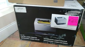 Samsung CLP 300 mini personal color laser printer.