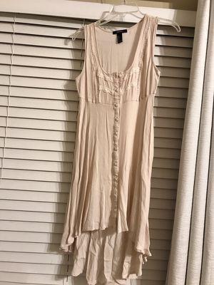 Beige Linen high/low dress!