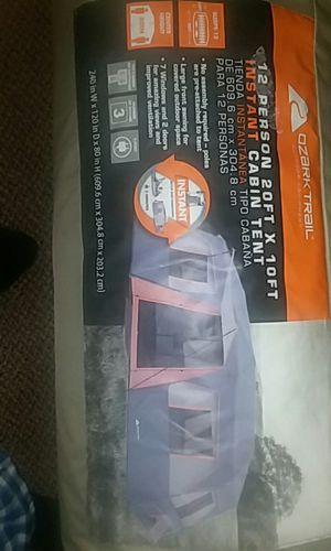 Cabin tent sleeps 12