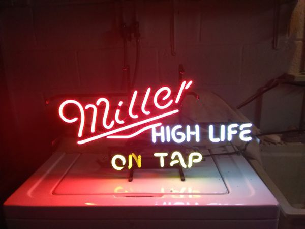 Miller high life neon bar light collectibles in feasterville miller high life neon bar light aloadofball Images